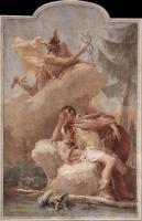 Фрески, монументальная живопись, роспись стен - Меркурий ( Апполон ) яляется Энею