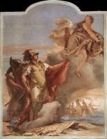 Фрески, монументальная живопись, роспись стен - Венера является Энею у берегов Карфагена