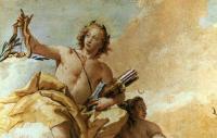 Фрески, монументальная живопись, роспись стен - Аполлон и Диана