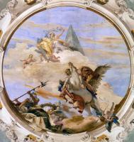 Фрески, монументальная живопись, роспись стен - Беллерофонт на Пегасе