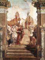 Фрески, монументальная живопись, роспись стен - Встреча Антония и Клеопатры