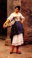 Романтические сюжеты в живописи - Продавщица цветов ( венецианка )