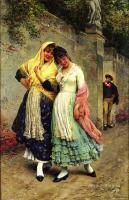 Романтические сюжеты в живописи - Заигрывающие