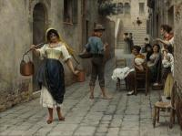 Романтические сюжеты в живописи - Взгляд ( намёк) дня