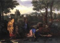 Библейские сюжеты в живописи - Оставление моисея в Ниле