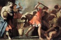 Библейские сюжеты в живописи - Моисей, защищающий дочерей Иофора