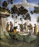 Библейские сюжеты в живописи - Смерть Моисея ( деталь )