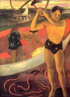 Paul Gauguin - Мужчина с топором