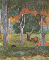 Paul Gauguin - Пейзаж на острове Доминик (Хива Оа)