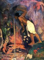 Paul Gauguin - Таинственный источник (Pape moe)