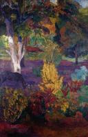 Paul Gauguin - Маркизский пейзаж с лошадью