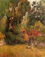Paul Gauguin - Хижины под деревьями