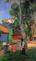 Paul Gauguin - Возле лачуг