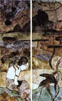 Paul Gauguin - Таитянка на фоне пейзажа