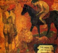 Гоген Поль ( Paul Gauguin ) - Faa Iheihe (деталь) (Таитянские пасторали )