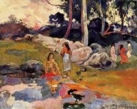 Paul Gauguin - Таитянки на берегу реки