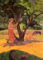 Гоген Поль ( Paul Gauguin ) - Mau Taporo ( сборщица лимонов )