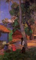 Paul Gauguin - Возле хижин