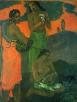 Paul Gauguin -  Женщины на берегу моря (Материнство)