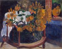 Paul Gauguin - Натюрморт с подсолнухами