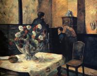 Paul Gauguin - Интерьер ателье художника на Рю Каркель
