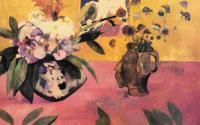 Paul Gauguin - Натюрморт с японской  гравюрой