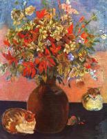 Paul Gauguin - Цветы и кошки