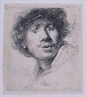 Rembrandt - Автопортрет в кепке