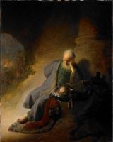 Rembrandt - Иеремия оплакивающий разрушенный Иерусалим