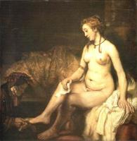 Вирсавия, читающая письмо Короля Давида :: Харменс ван Рейн Рембрандт, описание картины