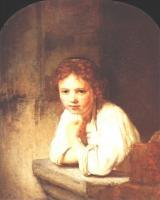 Rembrandt - Девушка у окна
