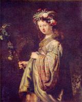Rembrandt (Рембрандт) - Флора (портрет Саскии в виде Флоры)