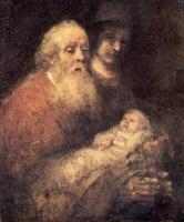 Rembrandt (Рембрандт) - Симон с Иисусом