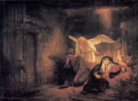 Rembrandt (Рембрандт) - Сон святого Иосифа
