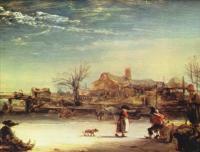Rembrandt (Рембрандт) - Зимний пейзаж