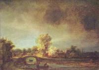Rembrandt - Пейзаж с каменным мостом