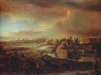 Rembrandt - Пейзаж с повозкой