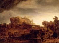 Rembrandt - Пейзаж с замком