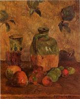 Paul Gauguin - Яблоки, Кувшин, Переливающийся Стакан