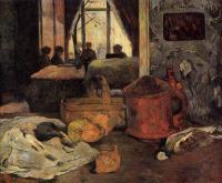 Гоген Поль ( Paul Gauguin ) - Натюрморт в интерьере, Копенгаген