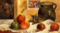 Гоген Поль ( Paul Gauguin ) - Натюрморт с японским принтом