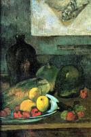 Гоген Поль ( Paul Gauguin ) - Натюрморт на фоне гравюры Делакруа