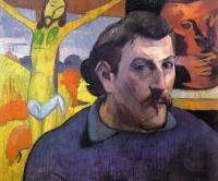 Гоген Поль ( Paul Gauguin ) - Автопортрет с жёлтым Христом