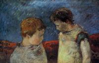 Paul Gauguin - Алин Гоген и один из её братьев