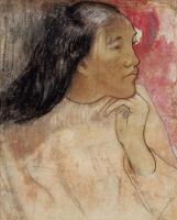 Paul Gauguin - Таитянка с цветком в волосах