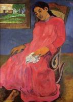 Paul Gauguin - Задумчивая женщина (Меланхолия)