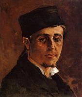 Гоген Поль ( Paul Gauguin ) - Мужчина в шапке