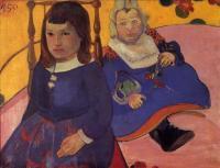 Paul Gauguin - Портрет двух детей (Поль и Жан Шуффенекеры)