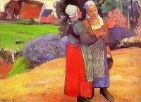 Paul Gauguin - Две бретонские крестьянки на дороге
