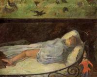 Paul Gauguin - Спящая девочка